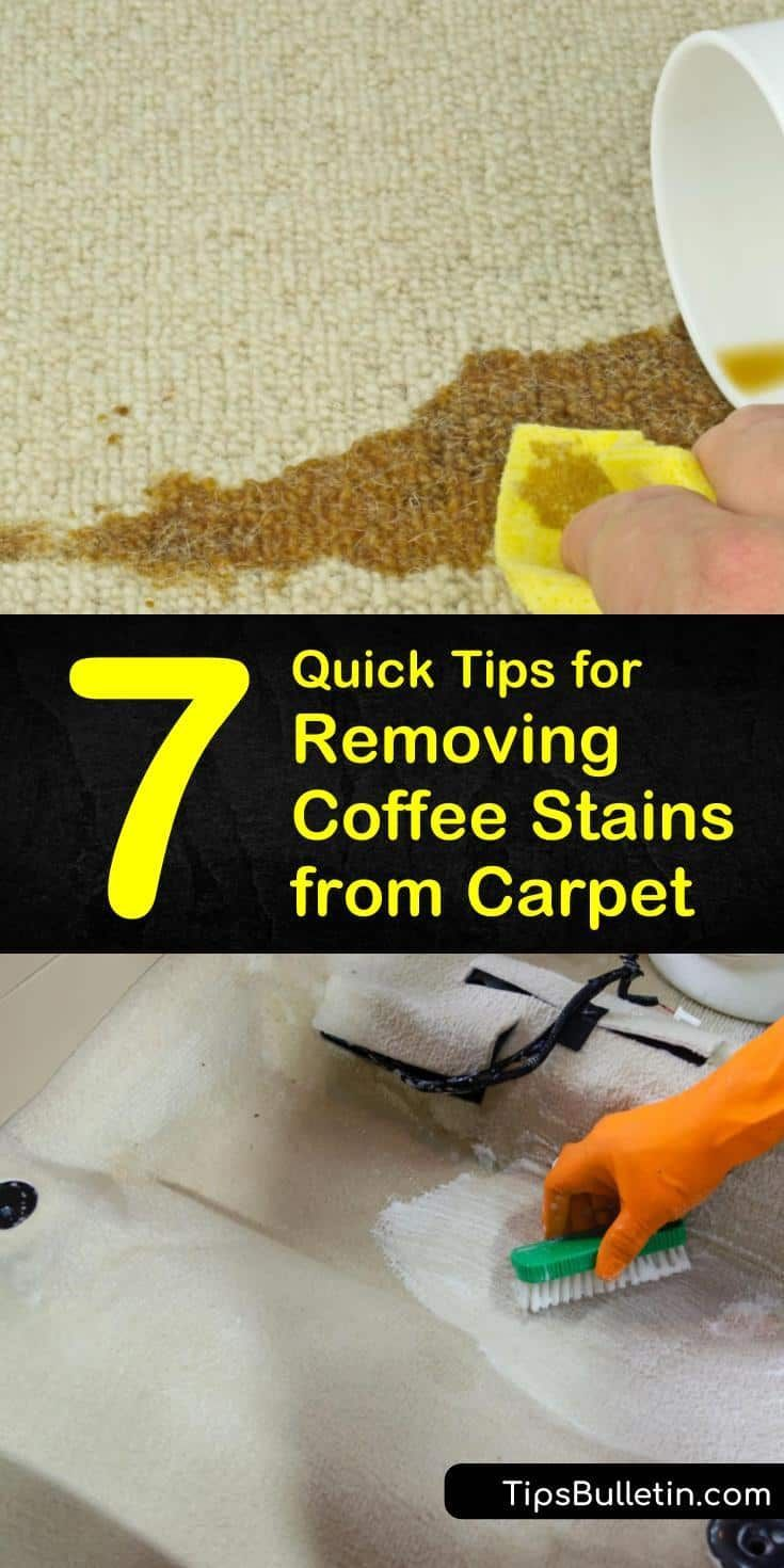 7 quick tips for removing coffee stains from carpet in