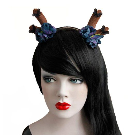 Doncielo Reindeer Antlers Headband Christmas and Easter Party Headbands with…