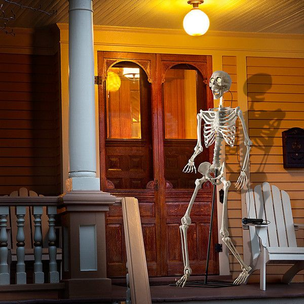Improvements Animated Life Sized Halloween Skeleton ($100) ❤ liked - halloween decorations at home