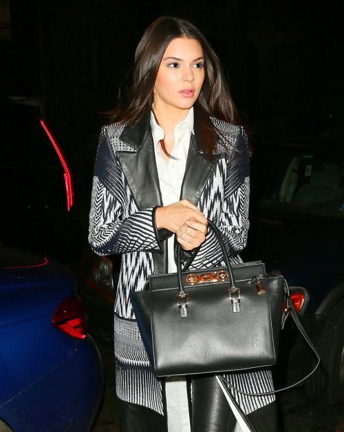 April 26, 2015: Kendall arriving at Gigi Hadid's birthday party in New York City