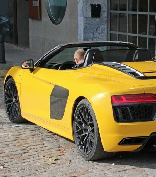 Yellow 2018 Audi R8 Spyder Snapped In The Open Luxury Car