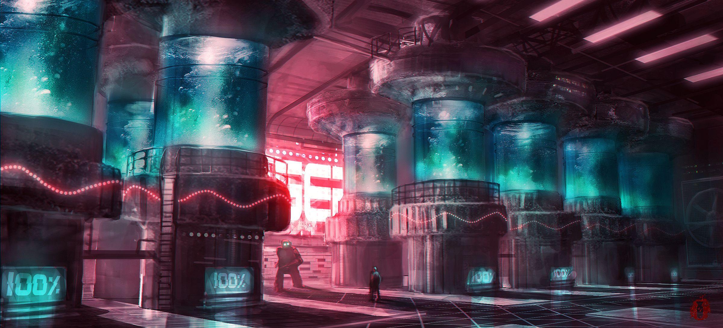 Concept art architecture futuristic on pinterest future for Cyberpunk interior design