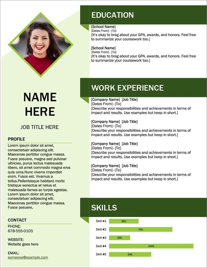 Pin on Downloadable resume template