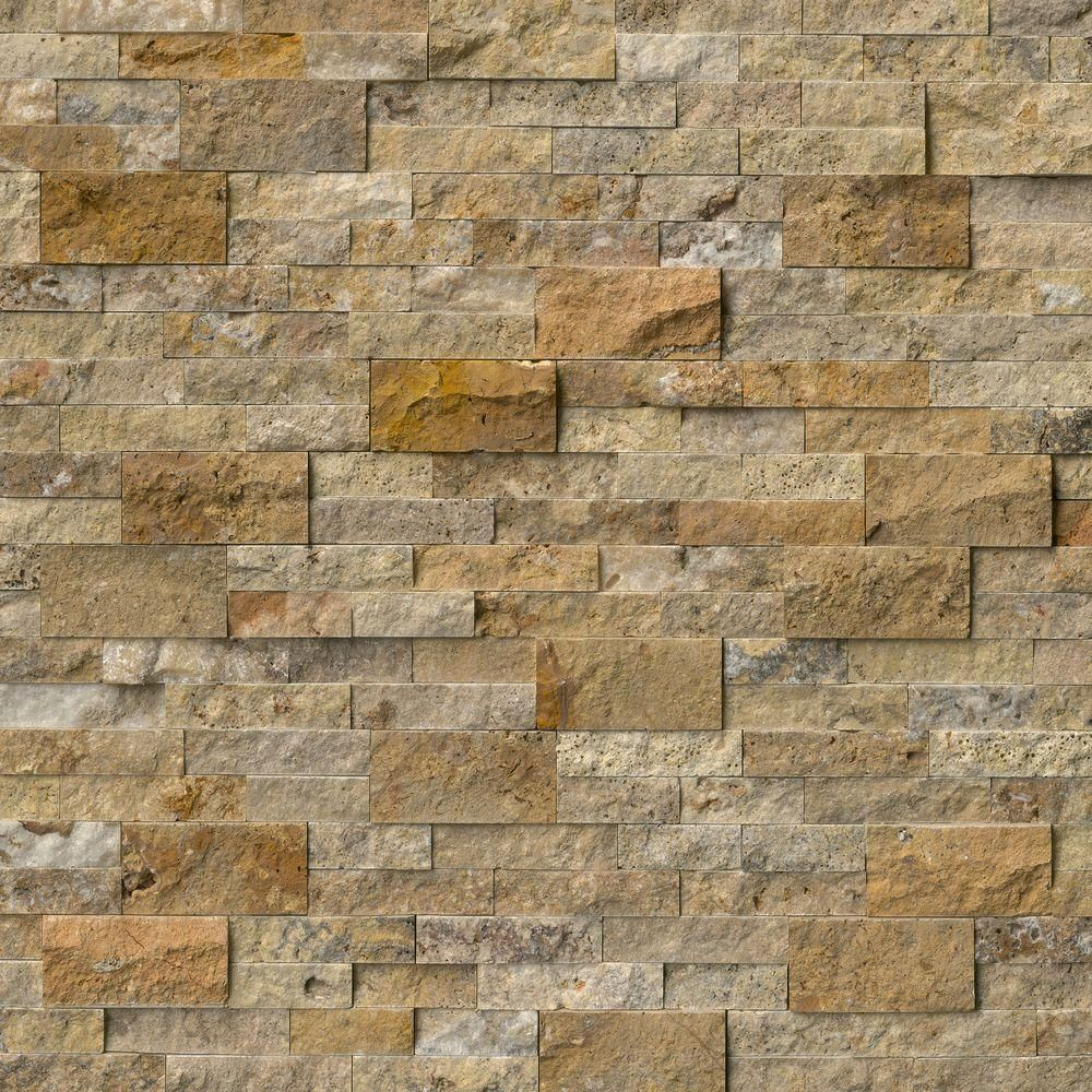 Msi Picasso Ledger Panel 6 In X 24 In Natural Travertine Wall Tile 10 Cases 60 Sq Ft Pallet Lhdpnltpic624 The Home Depot Travertine Wall Tiles Stacked Stone Panels Stone Panels