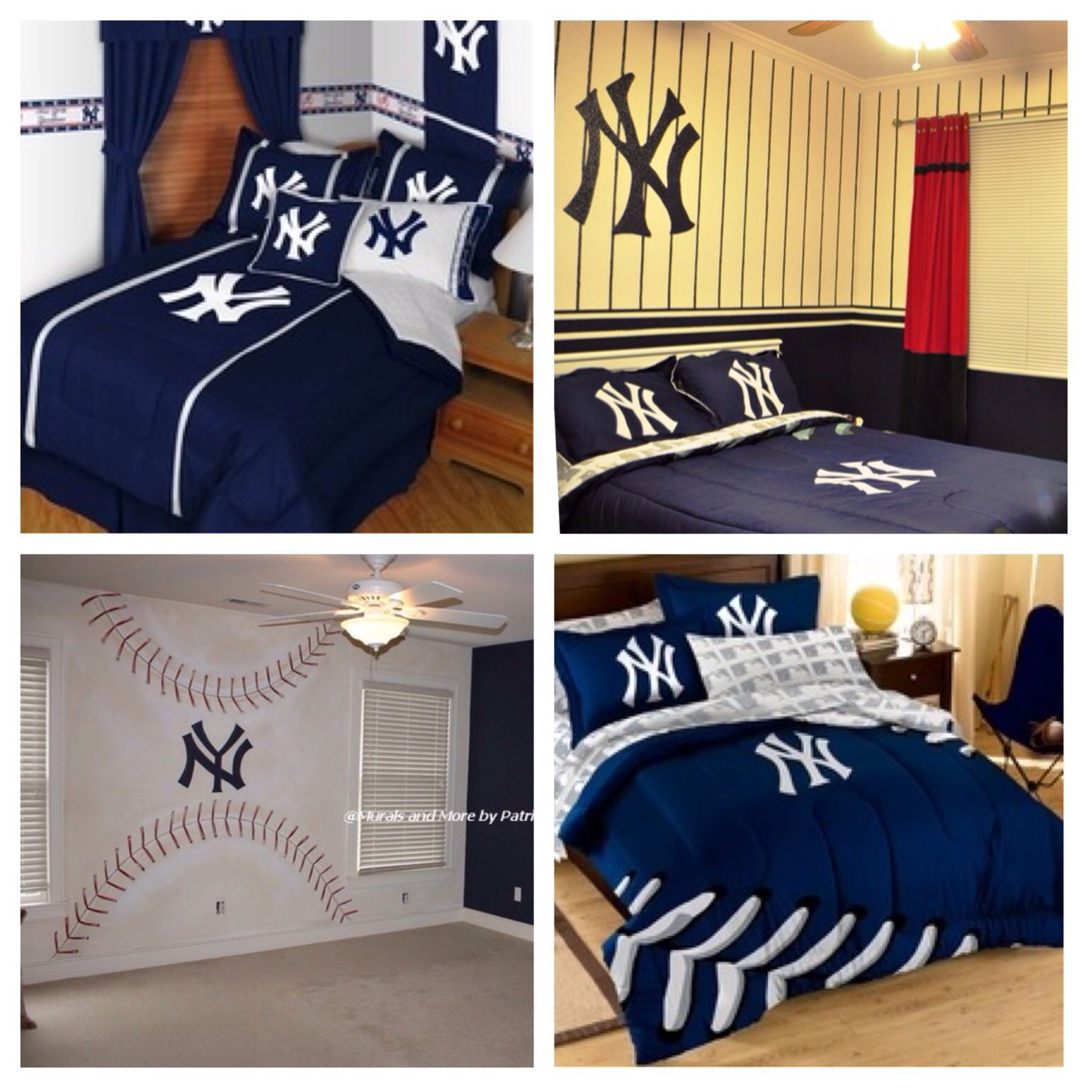 new york yankees bedroom for boys decor ideas - New York Yankees Bedroom Decor