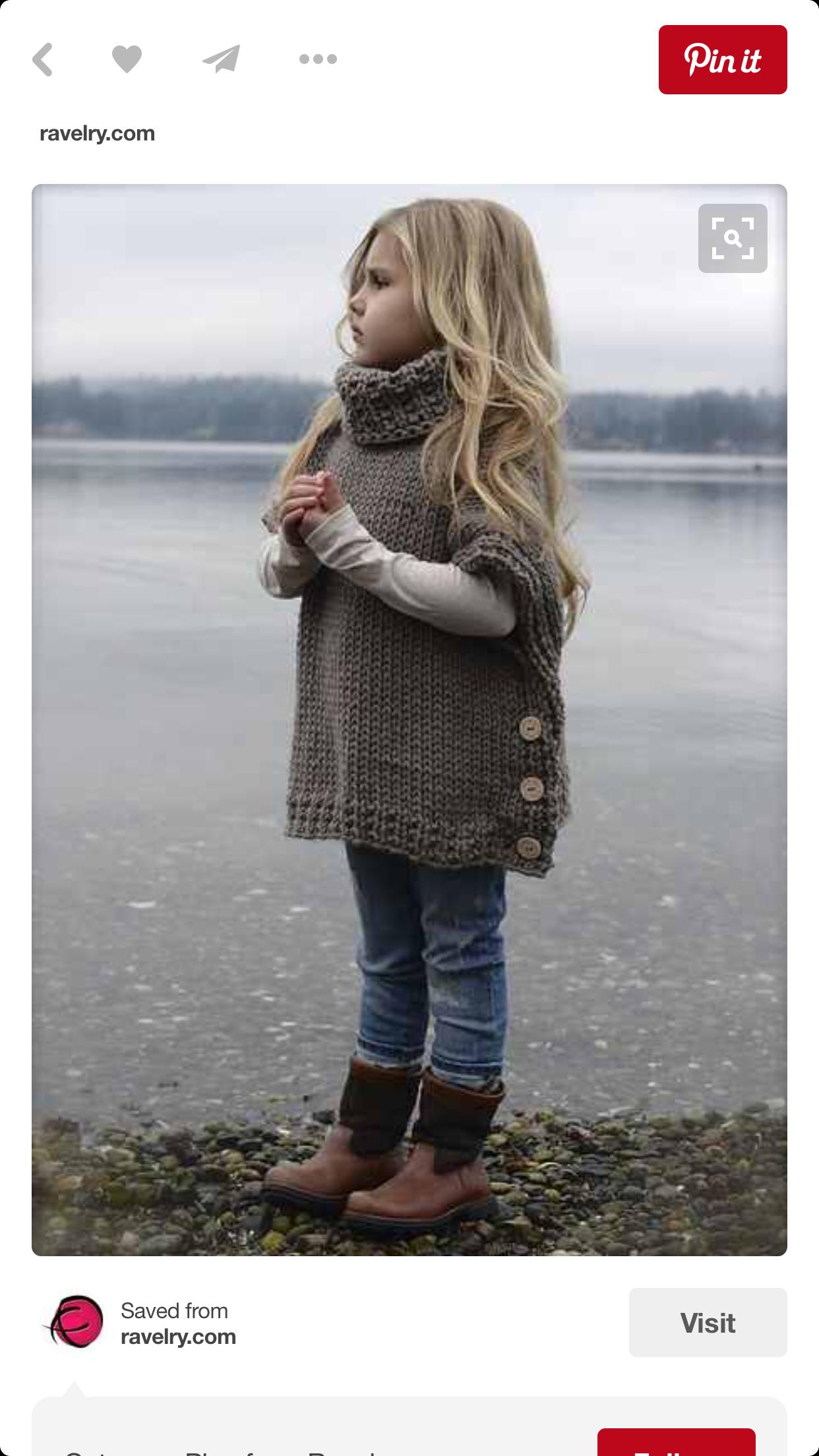 Pin de Debbie E. en baby and parenting | Pinterest | Ponchos tejidos ...