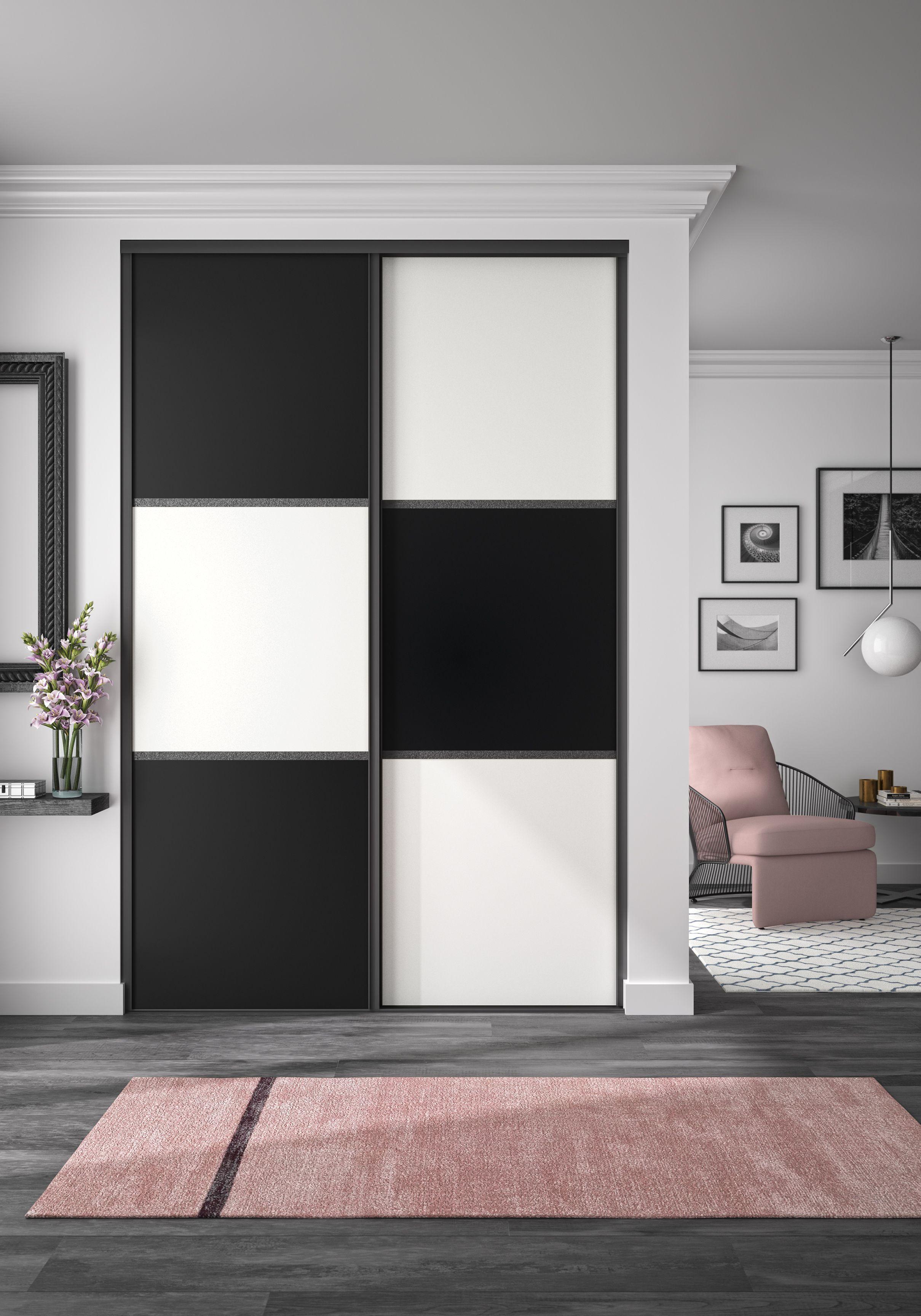 portes de placards optimum noir mat et
