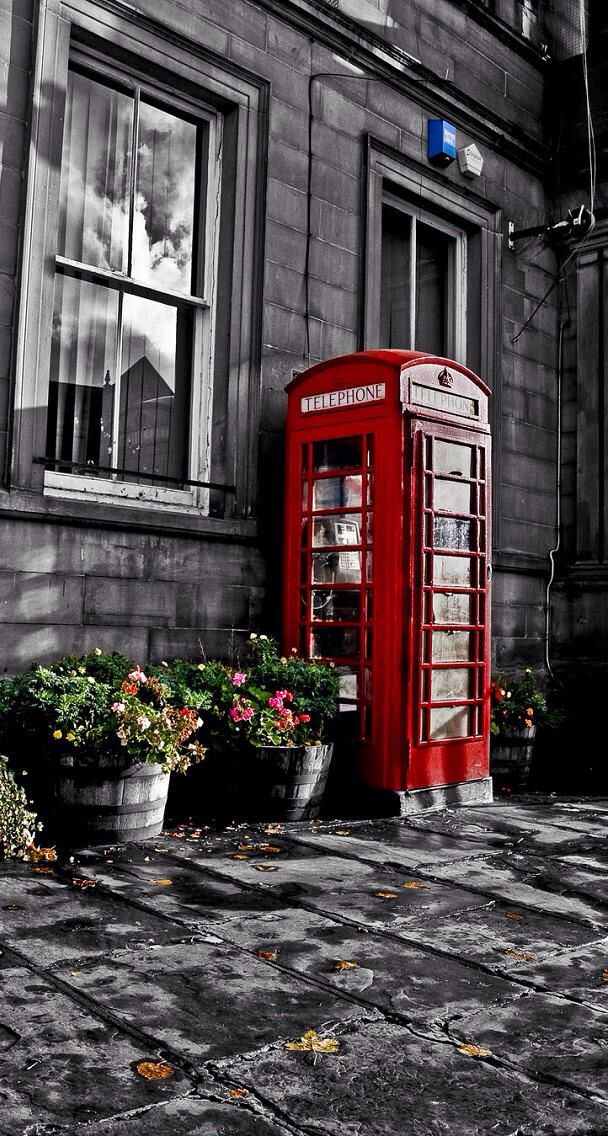 Cute Paris Wallpaper For Phone Red Telephone Booth Photography Iphone Wallpaper