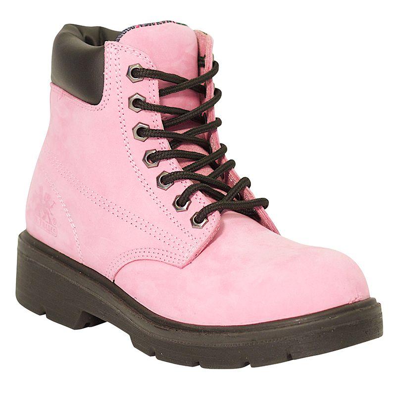 Pink Industrial Waterproof Work Boot