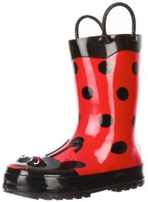Western Chief Ladybug Rain Boot (Toddler/Little Kid/Big Kid),Red,7 ...