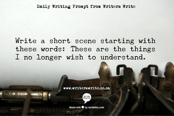 Daily Writing Prompt Daily Writing Prompts Creative Writing