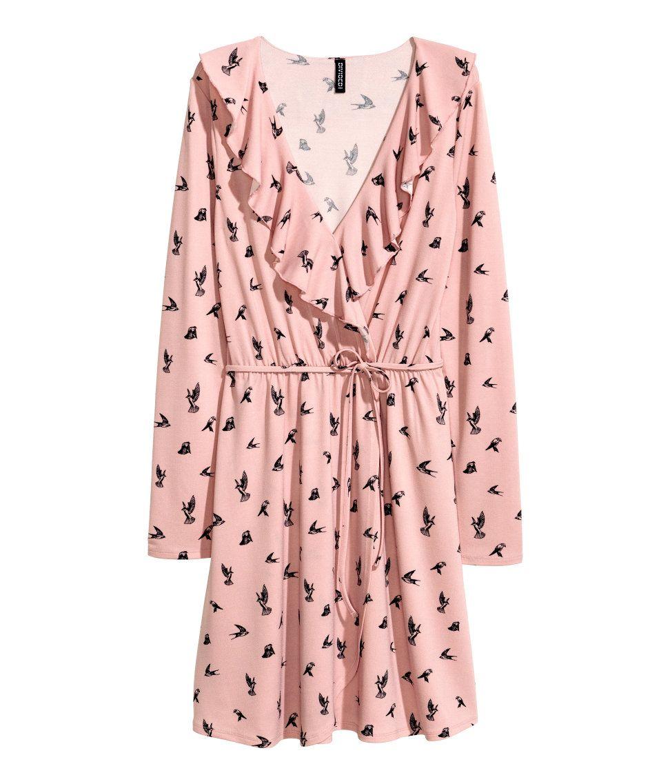 Wrap dress h m divided divided collection girls pinterest v tements femmes et mode - Idee garniture wrap ...