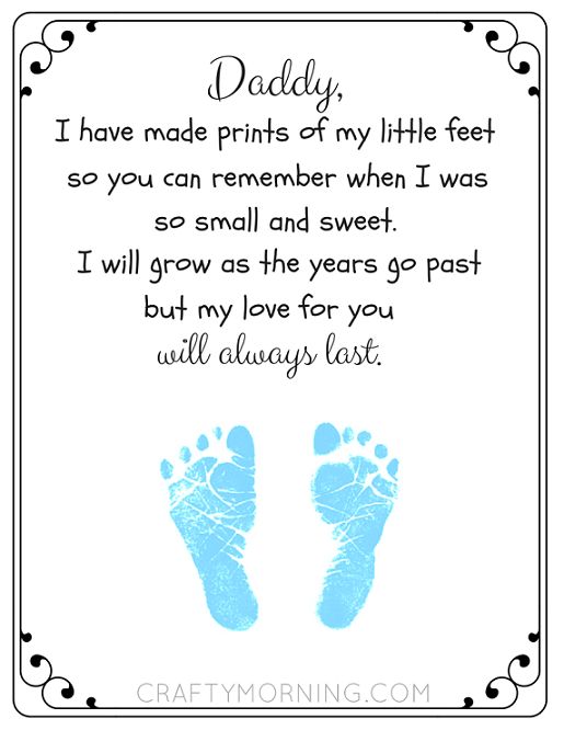 free printable father s day footprint poem crafty morning kids