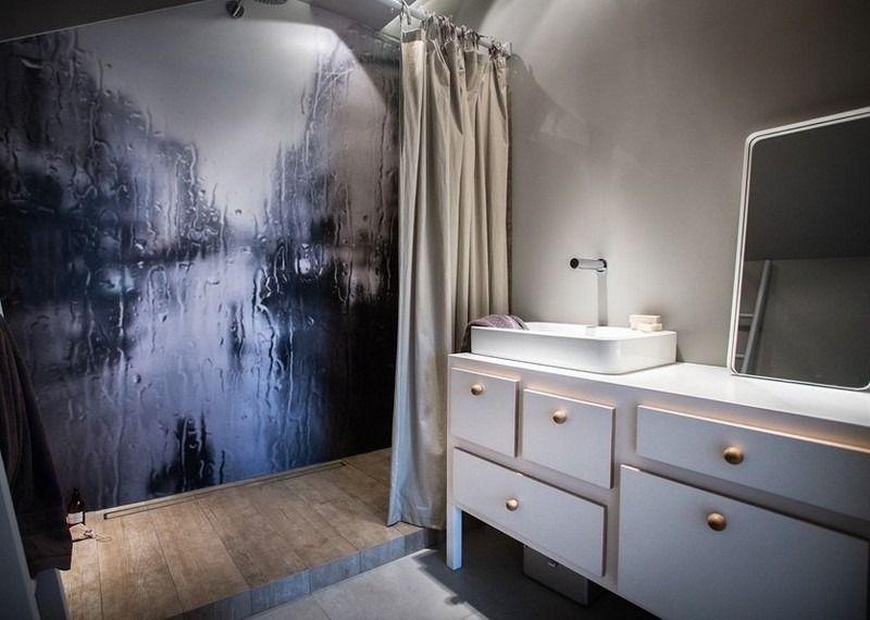 Fototapete Badezimmer ~ Fototapete regen als rückwand im badezimmer white living