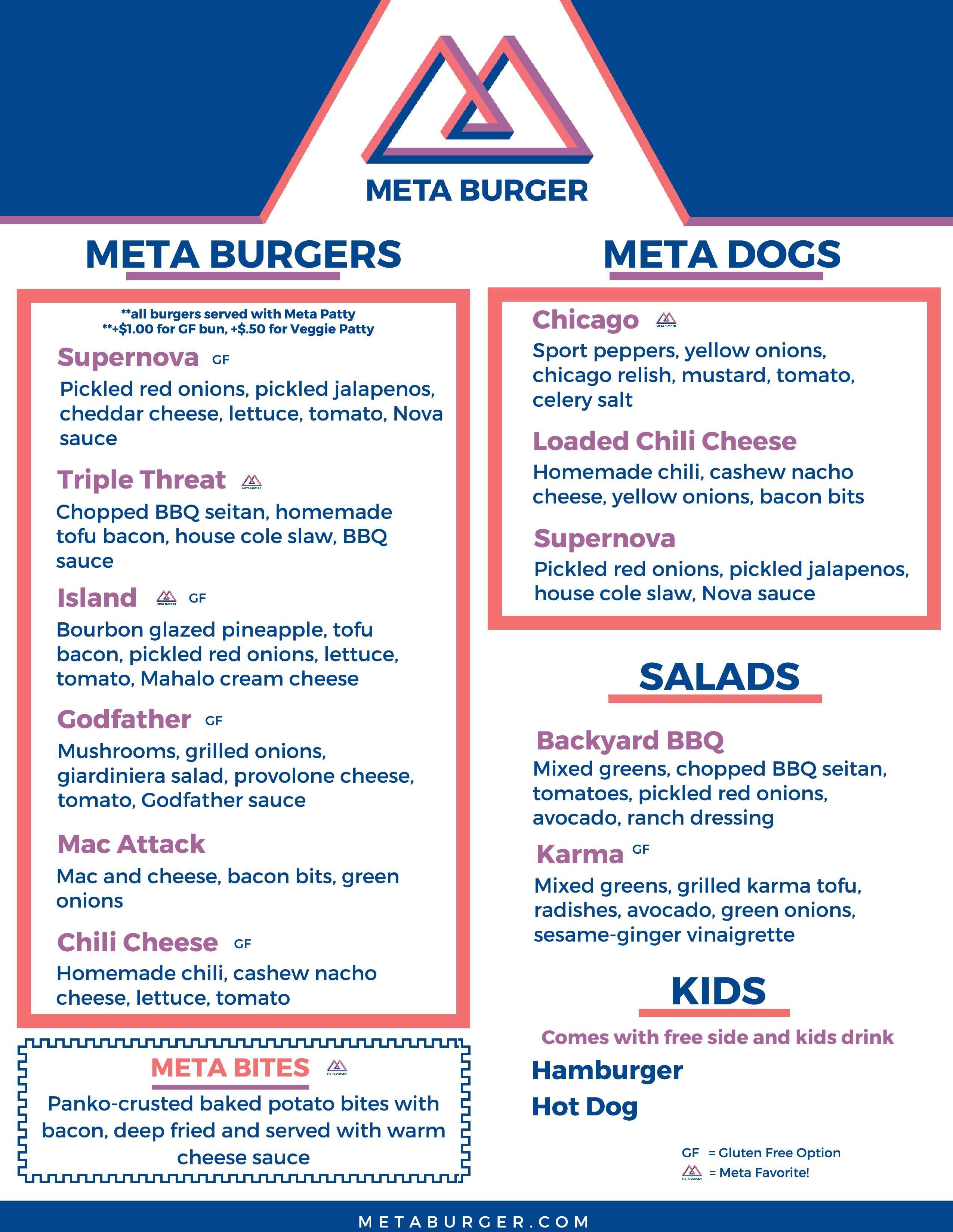 meta burger concept menu all vegan denver restaurant opening mid