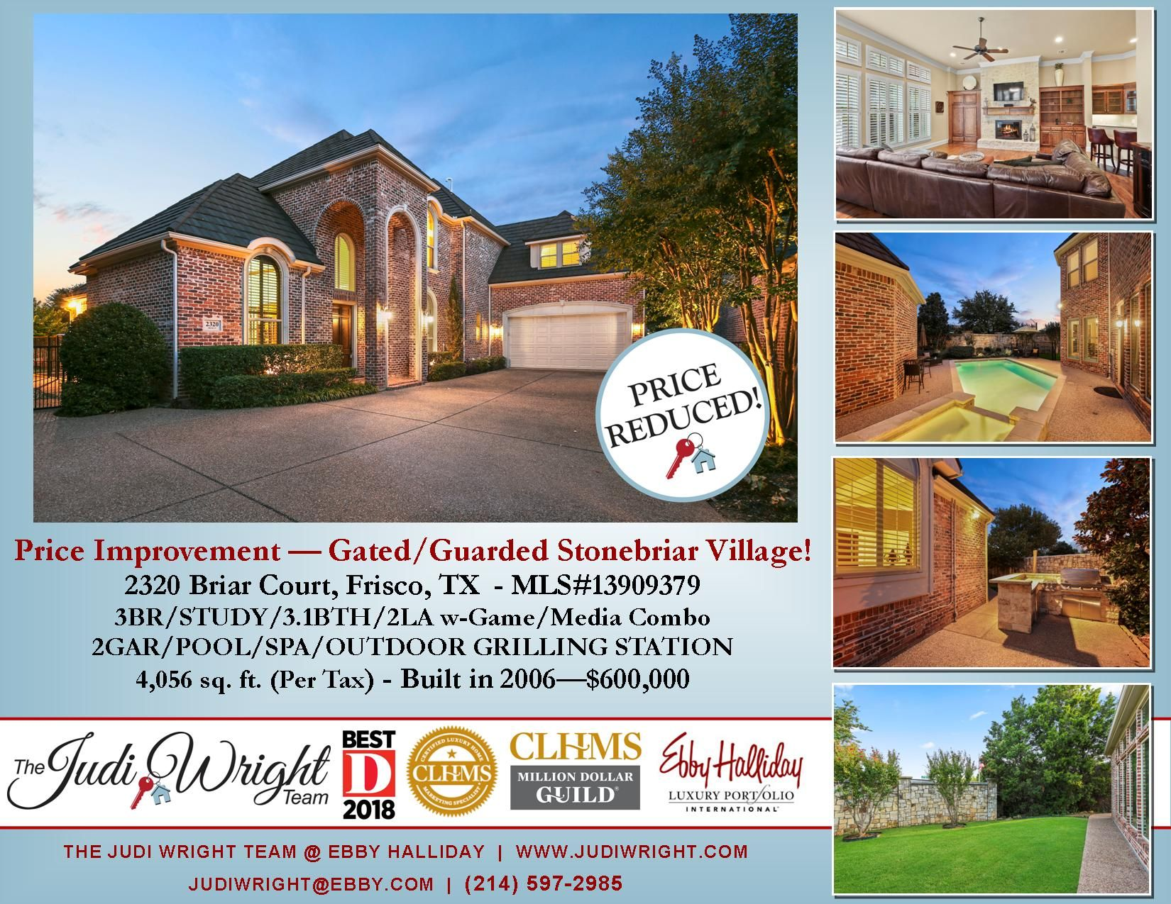 Price Improvement Just In Time For Christmas In Frisco Gated Golf Community Also Open Sunday 12 09 From 2 Outdoor Grill Station Frisco Backyard Entertaining