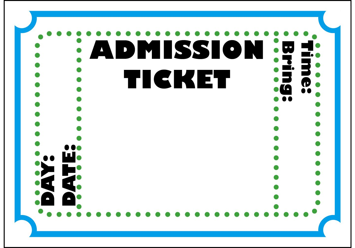 Mormon Share Admission Ticket Ticket Template Ticket Template Printable Admit One Ticket