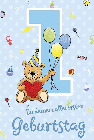 Geburtstagskarte Zum 1 Geburtstag Beautiful Depesche