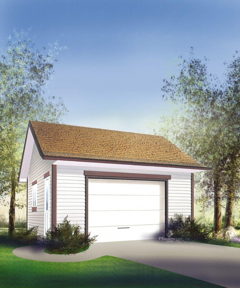 con u pour recevoir une voiture ce joli garage avec son toit deux versants est galement. Black Bedroom Furniture Sets. Home Design Ideas