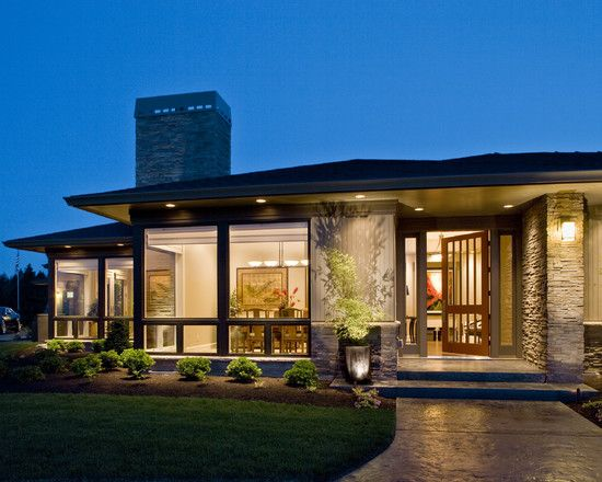 Mid century modern ranch style house design pictures - Mid century modern exterior lighting ...