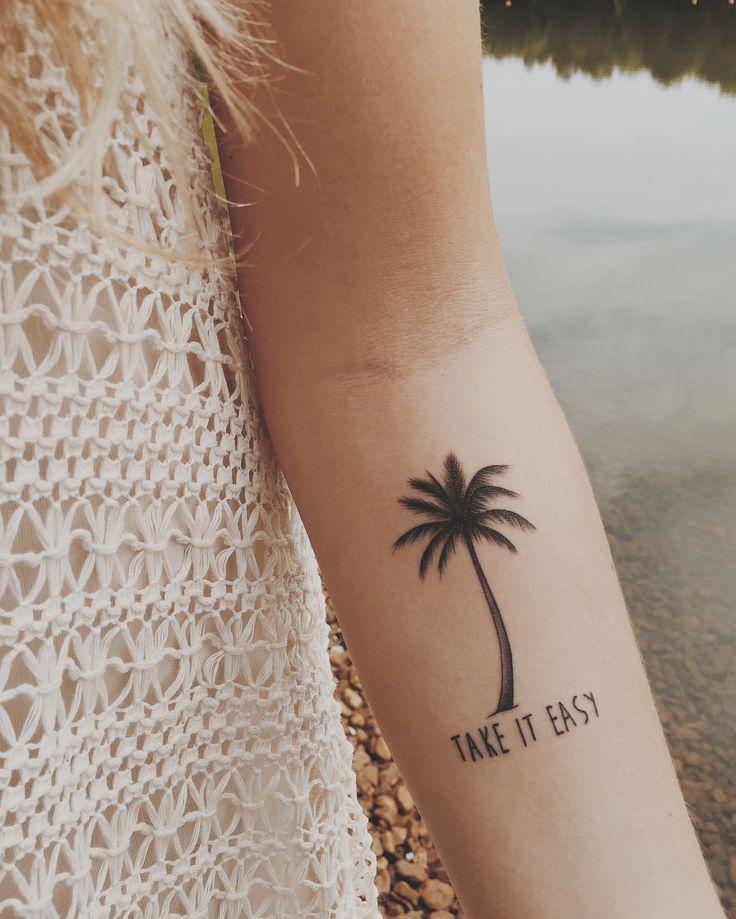 Women Tattoo Palm Tree Tattoo Tattoo Small Pretty Tattoos