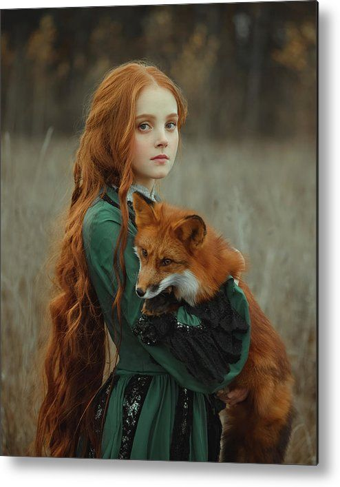 Foxes Metal Print by Anastasiya Dobrovolskaya
