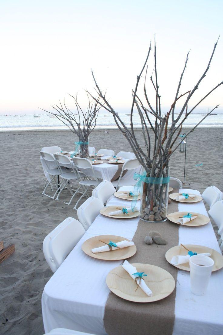 Pastel blue wedding decor   Amazing Beach Wedding Centerpieces  Beach wedding centerpieces