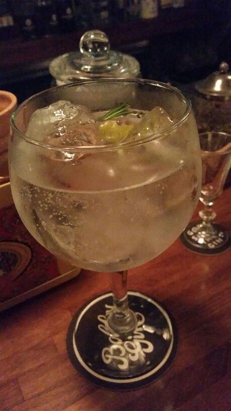 Gin, tonic, honey, rosemary and lime