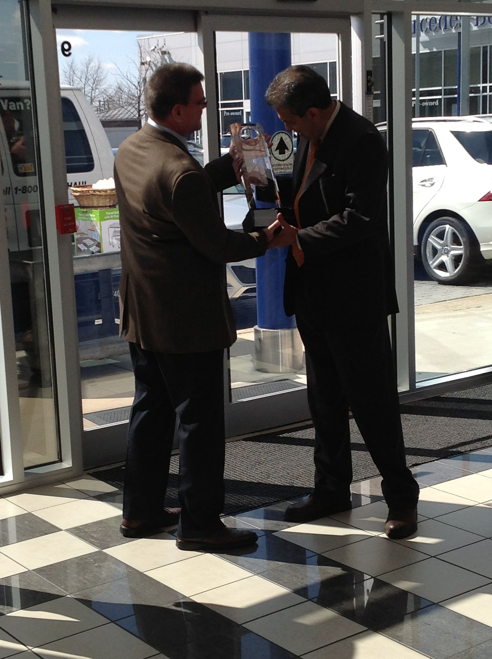 From Left To Right  John Freund (Mercedes Benz USA North East Region Service