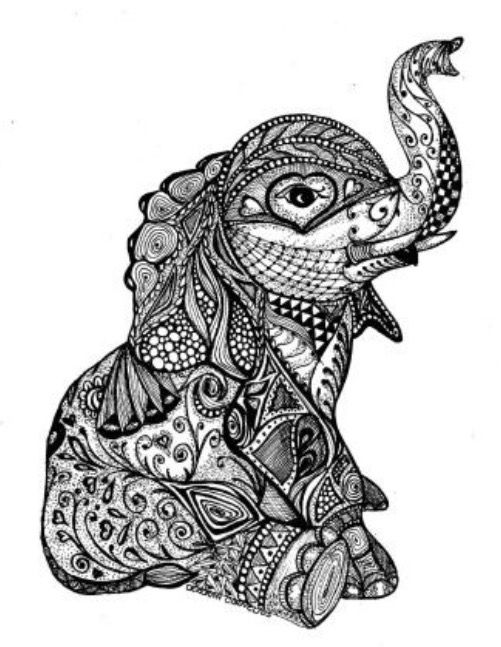 Baby Elephant Pattern Elephant Tattoos Tattoos
