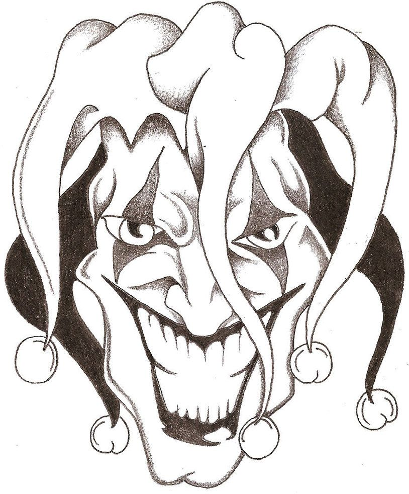 evil jester drawings ex ttattoo konuyu g r nt le joker d vmeleri d vme tattoo ideas. Black Bedroom Furniture Sets. Home Design Ideas