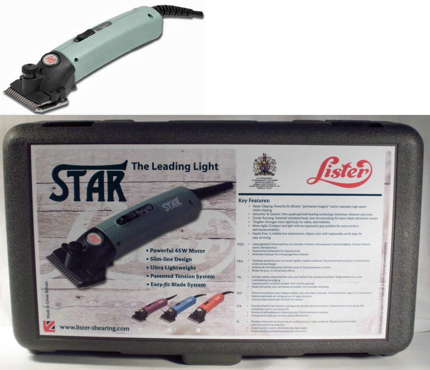 Horse Clippers 183405 Lister Star Clipper Kit It Now Only 283