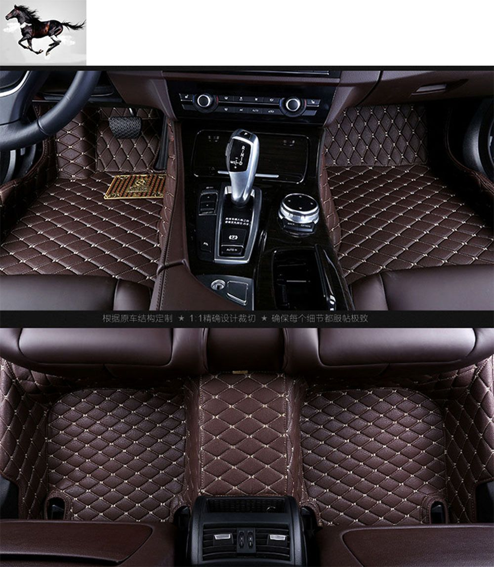 Custom Full Set Car Floor Mats For Audi Q7 Waterproof Leather 3d Floor Mats Carpets Car Cargo