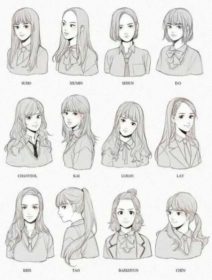 Hair Drawing Reference Hairstyles Anime Girls 21+ Ideas #hair #drawing #hairstyles # lipdrawing