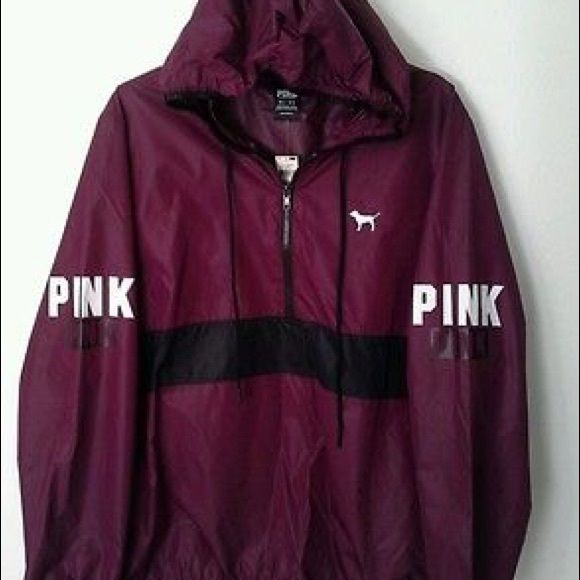 0f3bdaccbde5e VICTORIA SECRET PINK WINDBREAKER MAROON This jacket is sold out ...