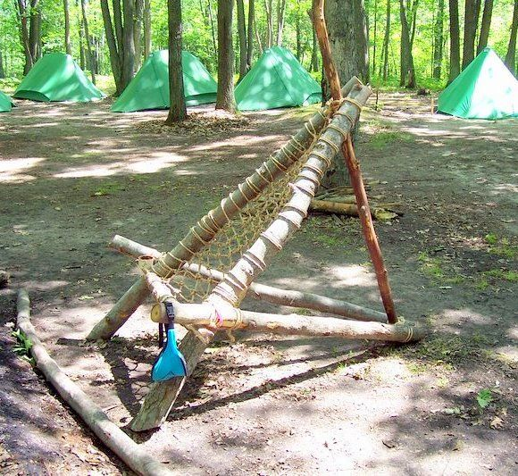 how to make a hammock from rope | build a hammock style wilderness camp chair fit for a scoutmaster made ...