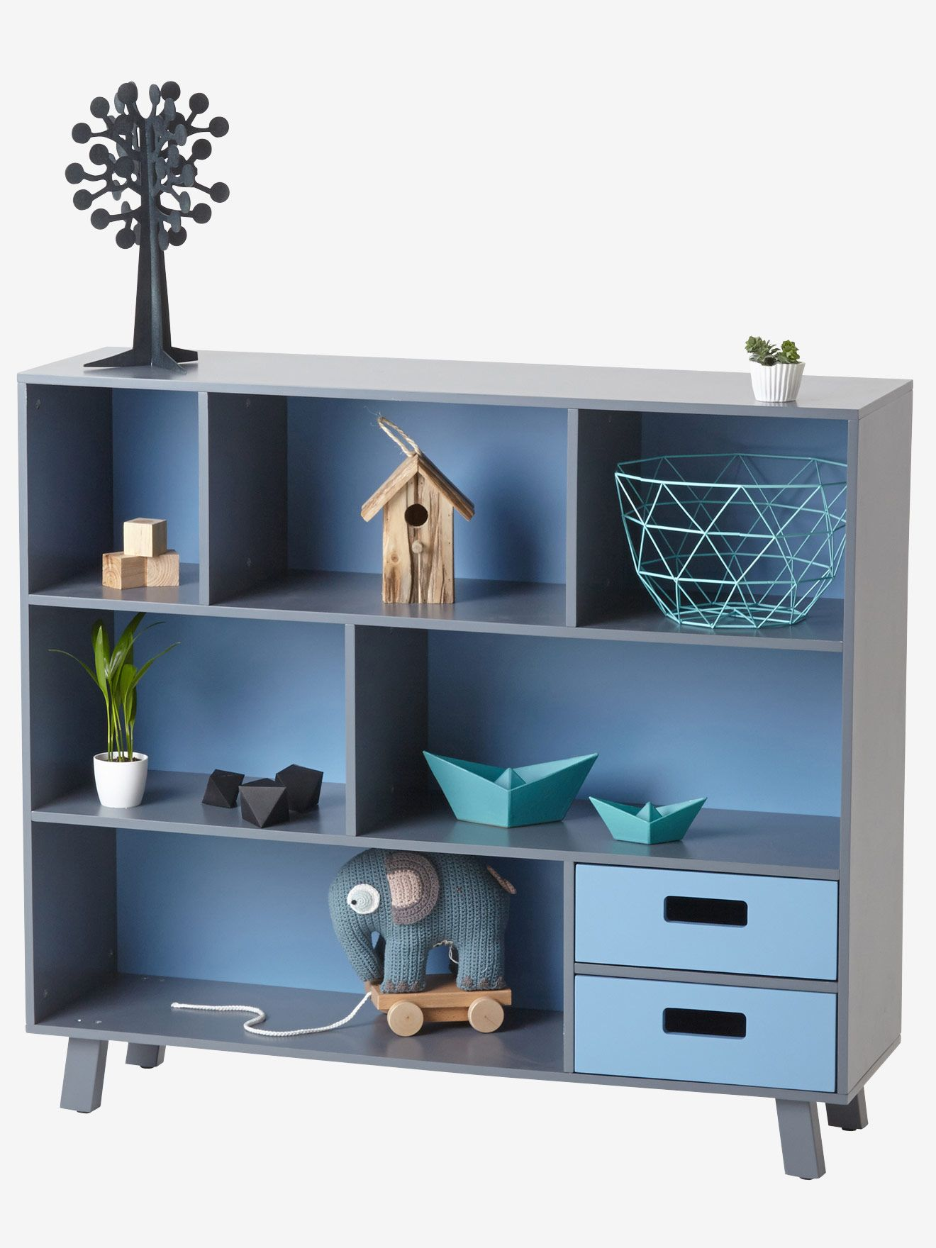 Bücherregal für Kinderzimmer von Vertbaudet in grau/blau - Nur € 2 ...