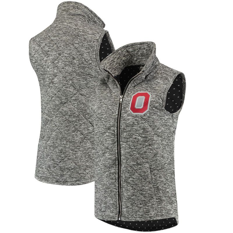 Bend The Ohio State University 1//4 Zip Gameday Pullover//Charcoal