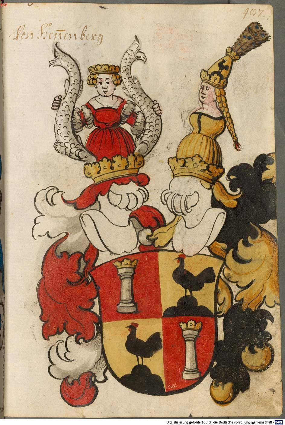 Scheibler'sches Wappenbuch Süddeutschland, um 1450 - 17. Jh. Cod.icon. 312 c Folio 487