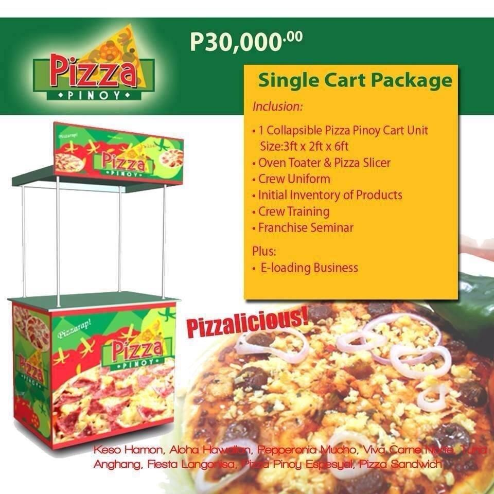 Pizza Pinoy Franchise food, Food cart business, Food