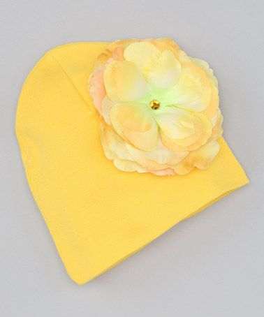 Take a look at this Yellow Rose Beanie by Jamie Rae Hats on #zulily today!