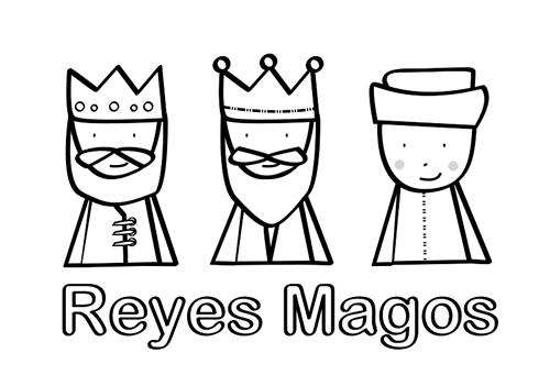 Reyes Magos Para Colorear Reyes Magos Dibujos Manualidad