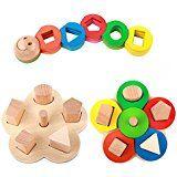 Rolimate Giocattolo istruttivo per bambini - Costruzioni a forme geometriche in legno: Amazon.it: Giochi e giocattoli