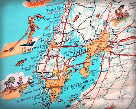 Clearwater Florida Map.Clearwater Florida Map Artwork Google Search For Our Florida