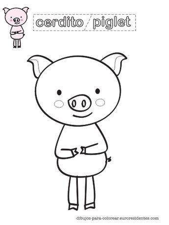 Dibujo De Cerdito Para Colorear Manualidades Cerdo Para Colorear Cerdo Dibujo Manualidades
