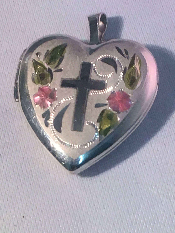"""White Opal Flower .925 Sterling Silver Pendant .75/"""" long"""