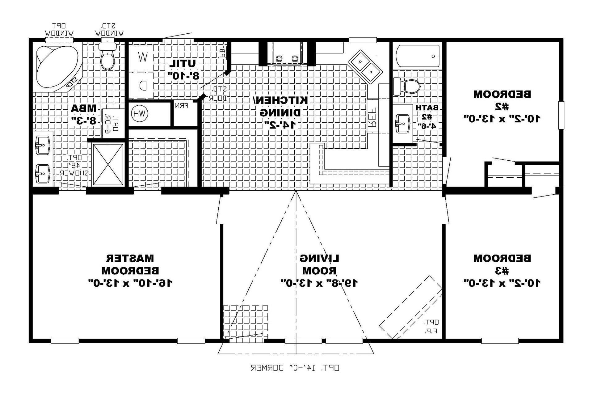 Modern HousePlan 76346 A simple roofline