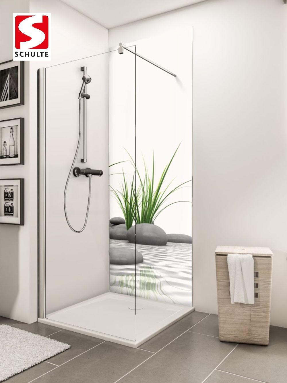 Schulte Duschruckwande Decodesign Foto Zen Steine Gras Paneel Wandverkleidung In 2020 Duschruckwand Badgestaltung Dusche