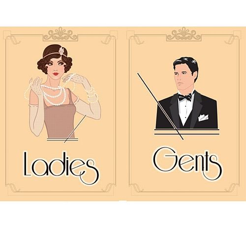 1920's Themed Toilet Signs - Ladies & Gents £1.50 | Pinterest