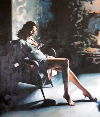 "Saatchi Art Artist thomas saliot; Painting, ""Bare foot green"" #art"